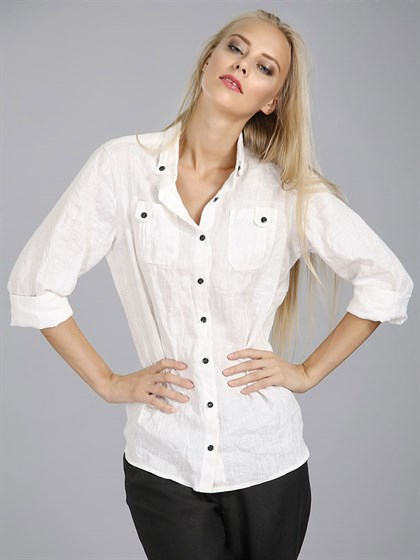 Блузка - рубашка женская - фото 7077